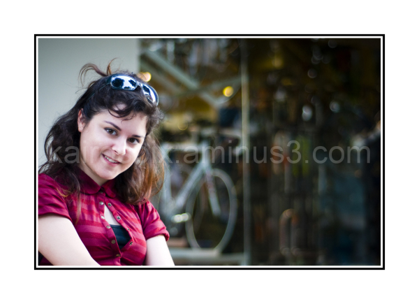 Stop by a bicycle shop... she is a racing cyclist