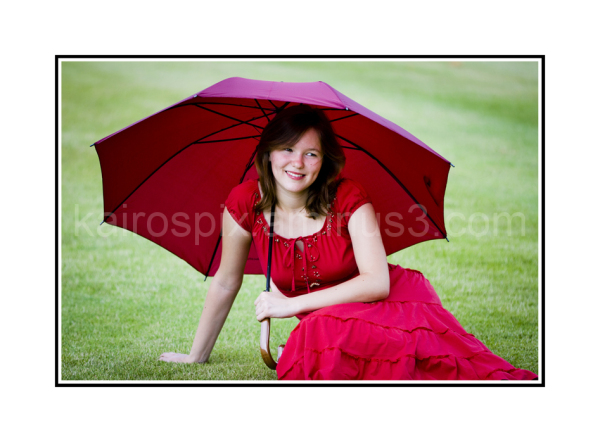 Another shot of the brolly pose...