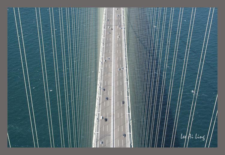 Akashi-Kaikyo bridge, Kobe, Japan