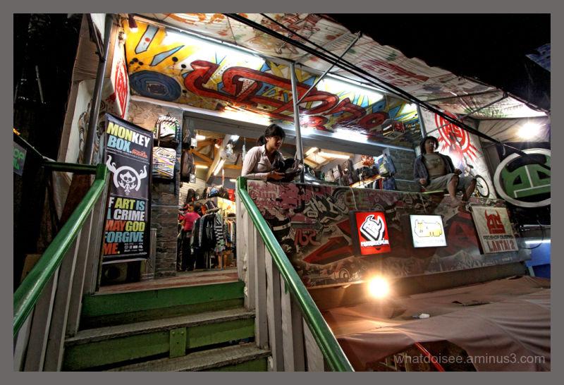 Bandung city jeans street Indonesia