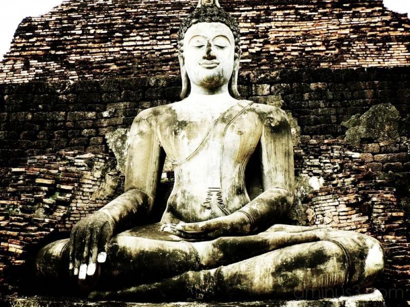 buddha, thailand, statue, sitting, meditate