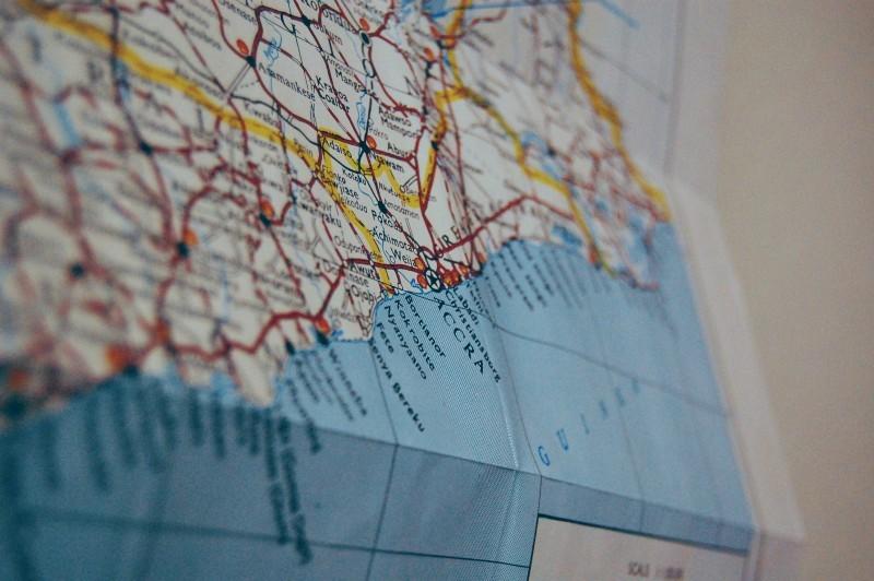 Road Map of Ghana