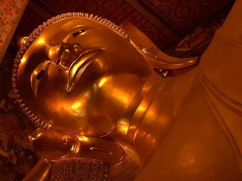 Reclining Buddha taken in Bangkok, Thailand