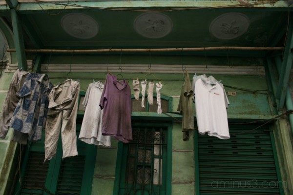 Drying clothes. Macao