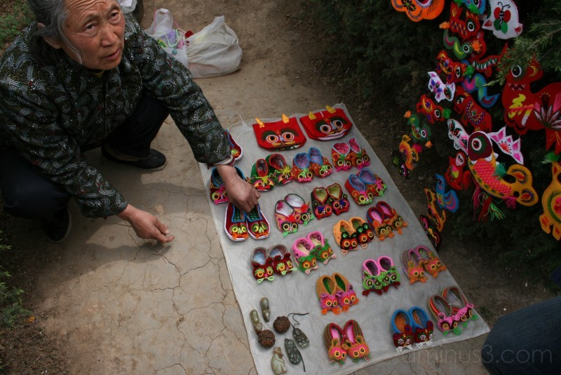 Saleswoman. Xi'an, China