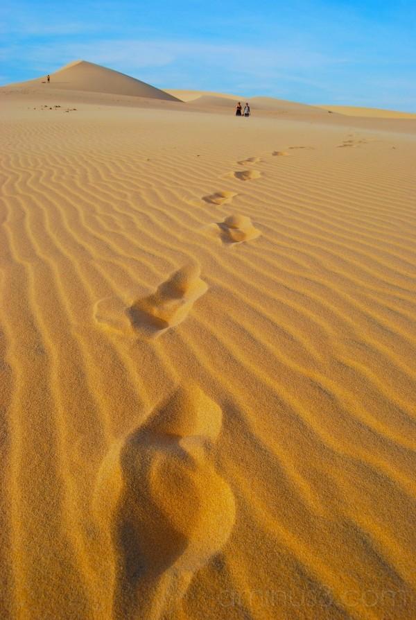 Someone else's footprints