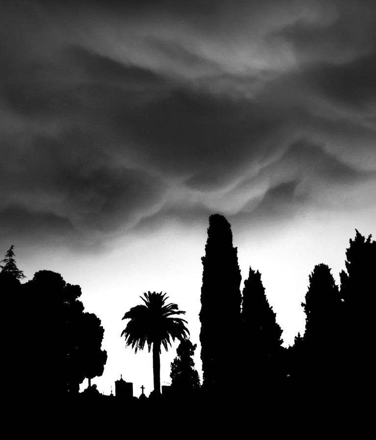 nuage, cloud, cimetiere, vence