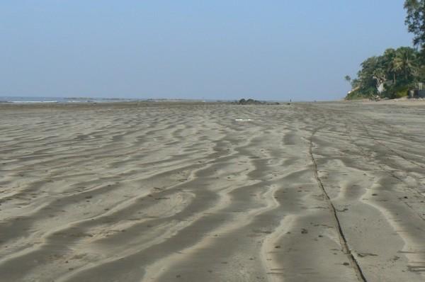 waves on sand