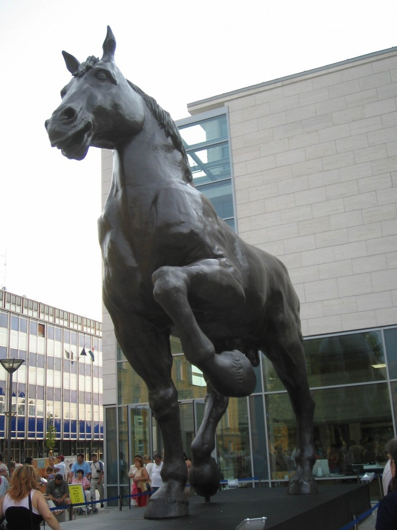 Hungary Carnevale 2007 Porcsin horse Debrecen