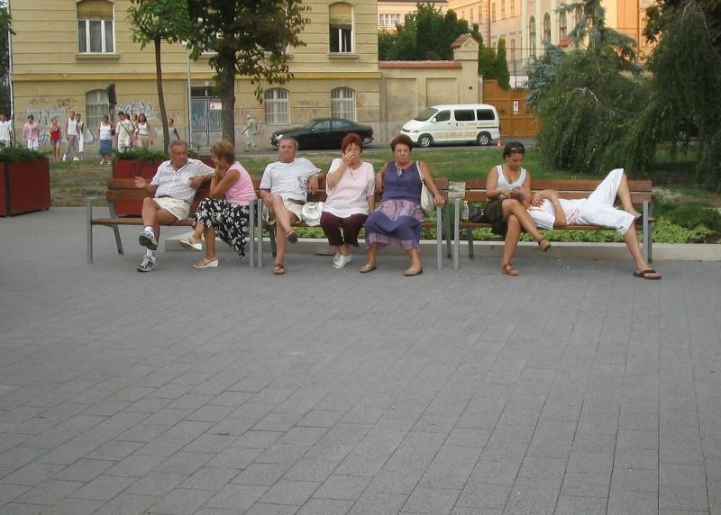 Hungary Carnevale 2007 Porcsin Debrecen bench