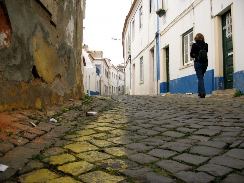Ericeira, rua, figura....