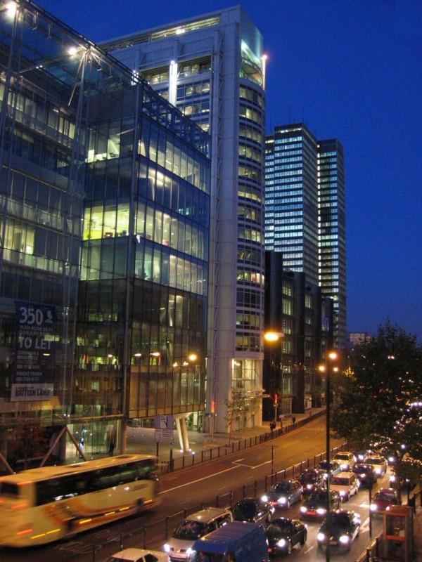 Euston Road, evening