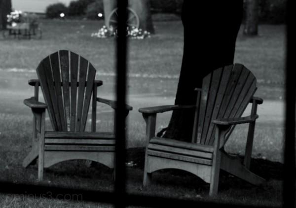 Adirondack Chairs in rain