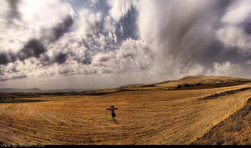 Scarecrow nature HDR panaroma