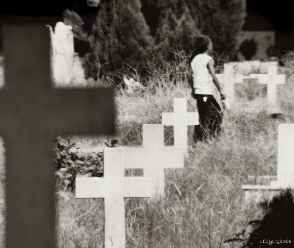 Graveyard in delhi, india