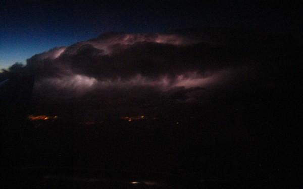 lightning on takeoff
