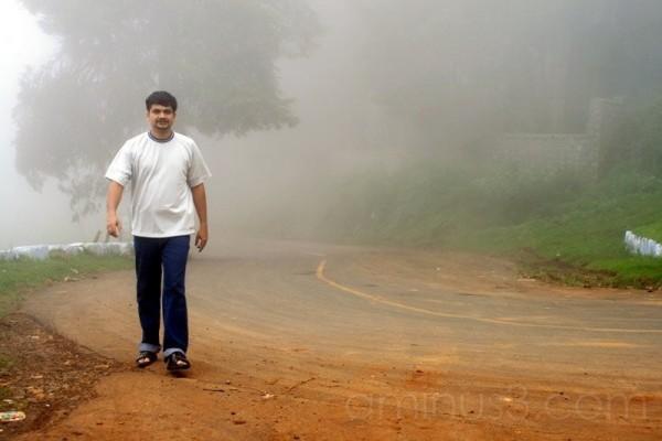 Walking through Ooty Mysore Road India