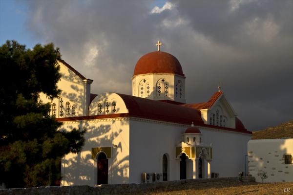 Eglise Rouge à Engares -île de Naxos- Cyclades