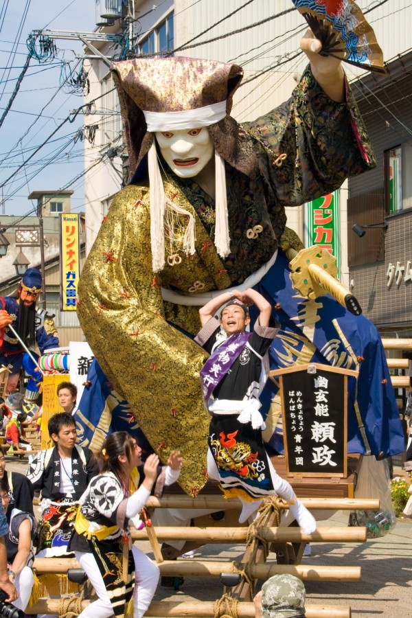 Street festival celebrating Gods in Tsurugi, Japan