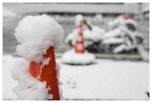 Snow in the local carpark, Japan