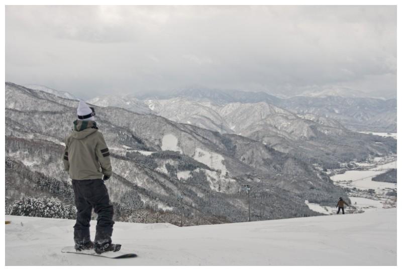 Snow boarder, Ishikawa, Kanazawa, Japan Mountain