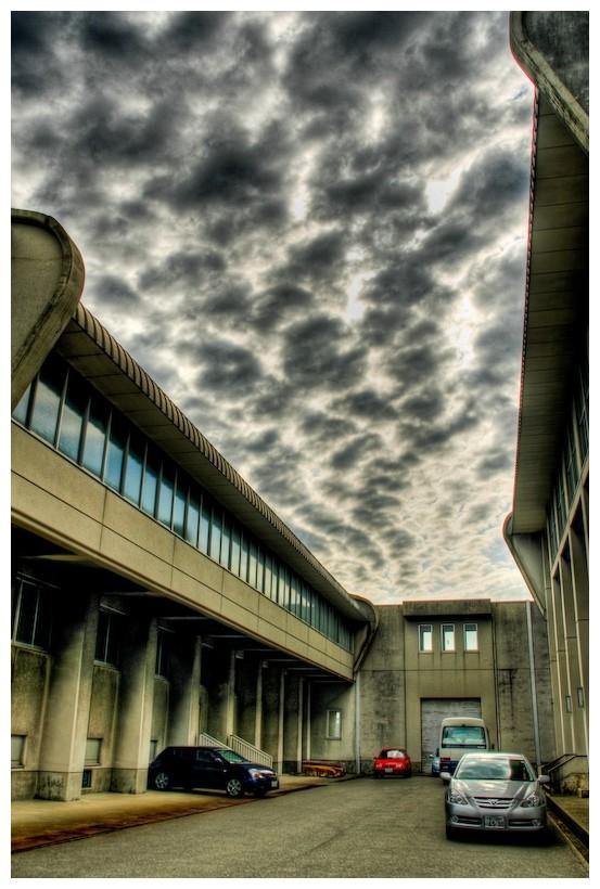 Clouds at school in Japan, nonoichi