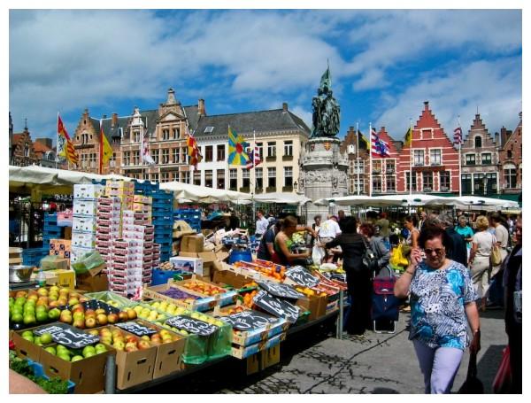 Fruit and vegetable market Brugge, Belgium
