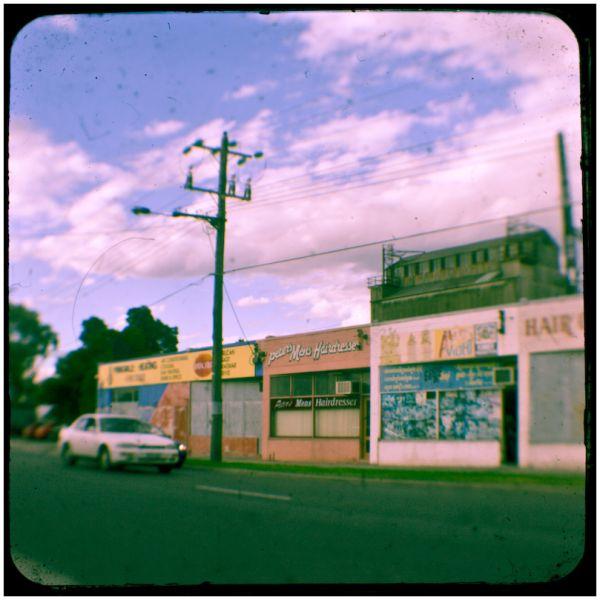Vintage retro street scene canon duaflex ttvf