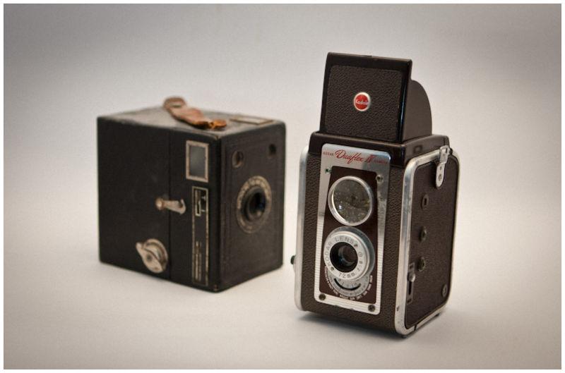 Old school, vintage Kodak Cameras