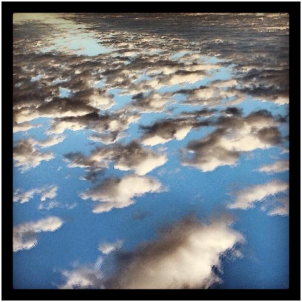 Hi contrast photo of clouds