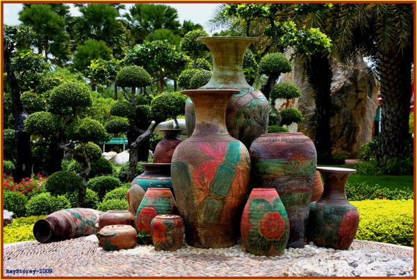Formal Thai garden