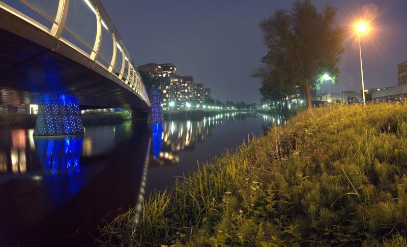 panorama Kanaal Nord Apeldoorn by night