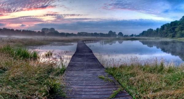 sunset on beekbergerwoud lake
