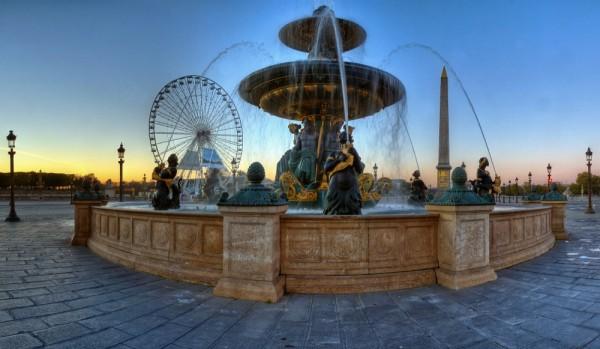 France, Paris, Place de la concorde, panorama
