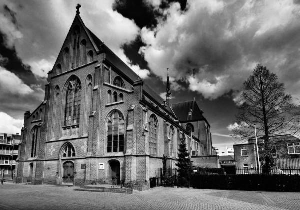 Mariakerk B&W, hoofdstraat, Apeldoorn