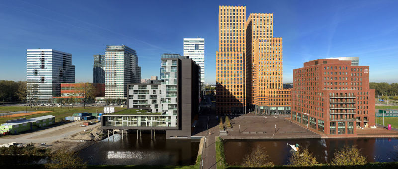 Zuidas (business district) Cityscape, Amsterdam