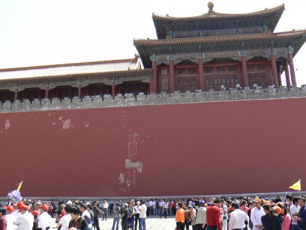 Red walls in the Forbidden City