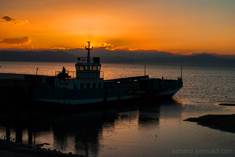 sunset urmia