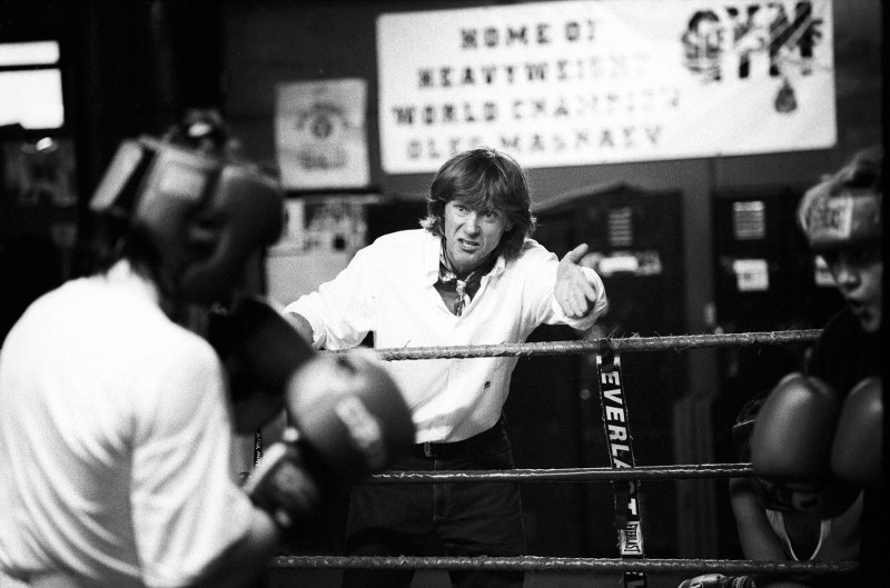 Boxing Coach Mike yelling during a round