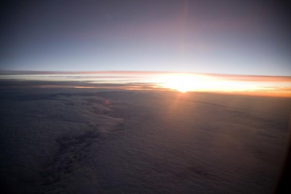 sunrise at 35,000 feet