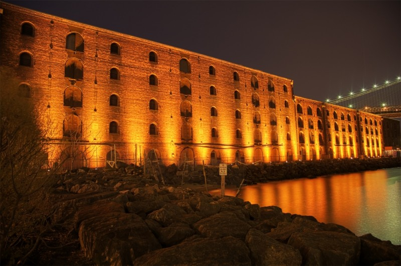 abandoned warehouse, brooklyn waterfront