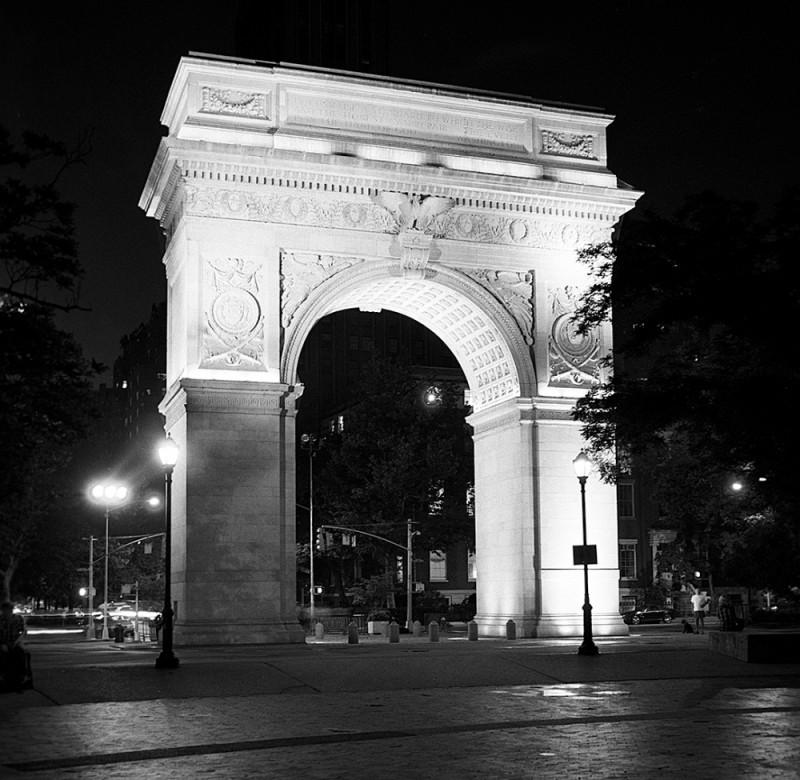 Washington Square (by night)