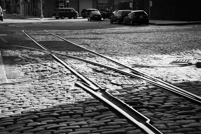 cobblestones & rails