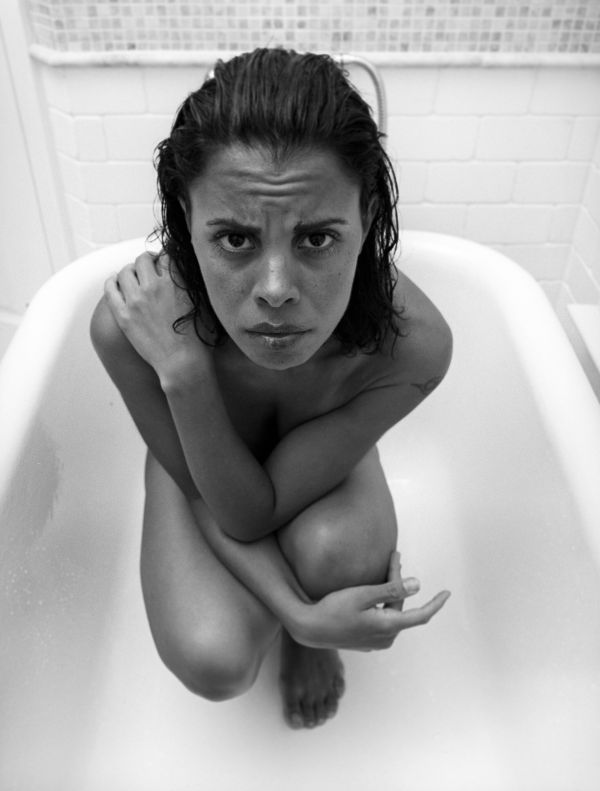 girl in tub