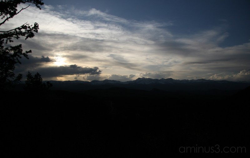 Sunset Over Continental Divide