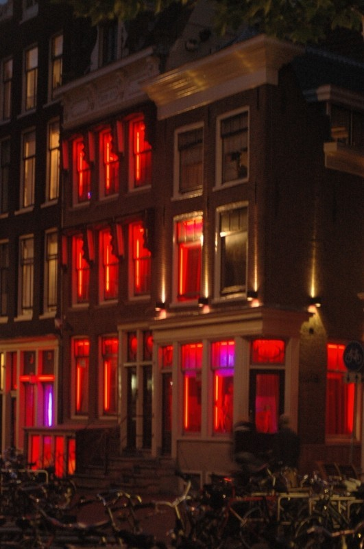 whorehouse across road in Amsterdam