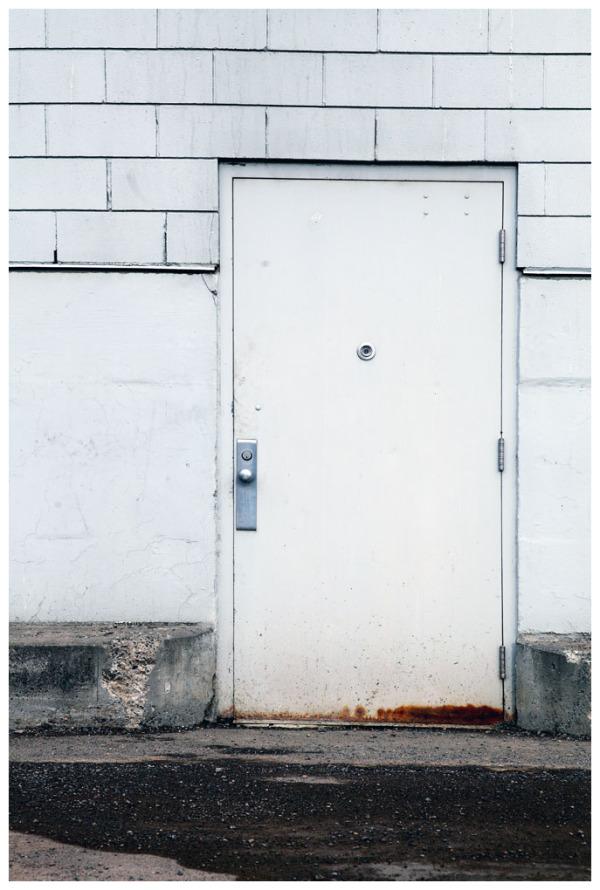 In Front Of The White Door