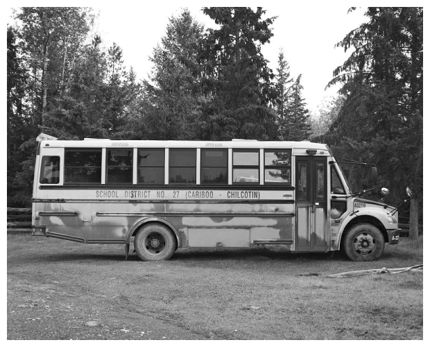 Bus in Black and White
