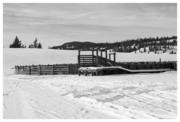 Corral In Winter