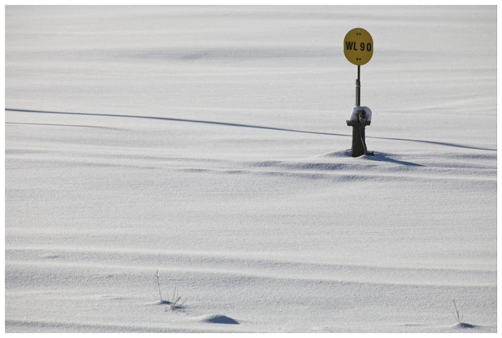 Rails Under Snow